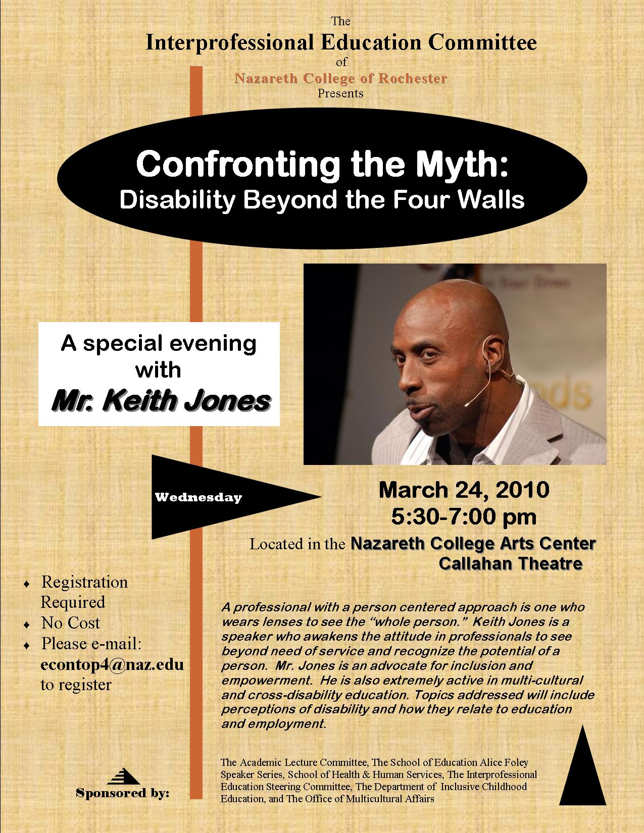 Flier for Keith Jones