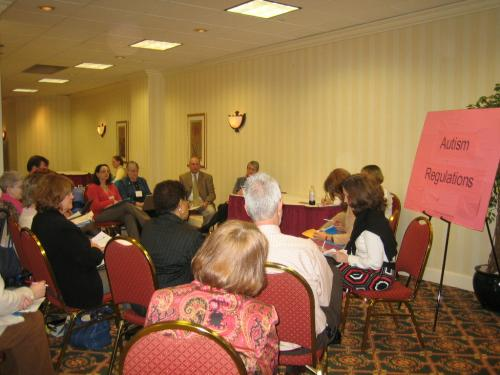 Another photo of the breakout group on Perspectives on the Autism Regulations