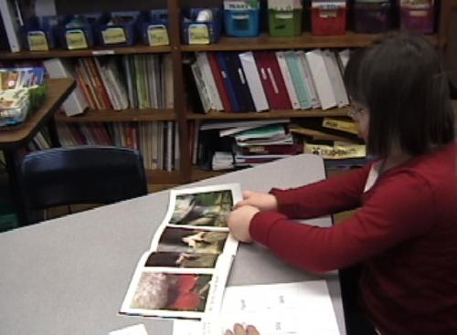 Photo of student reading.
